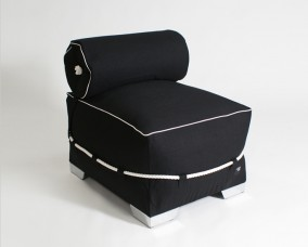 Allure Black white piping | Captain Jack